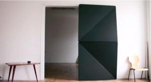 Origami-inspired door