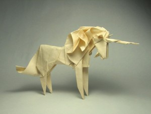 Unicorn by Marc Kirschenbaum, origami artist, designer, and board member of OrigamiUSA