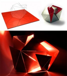Folding Lamp via Yanko Designs
